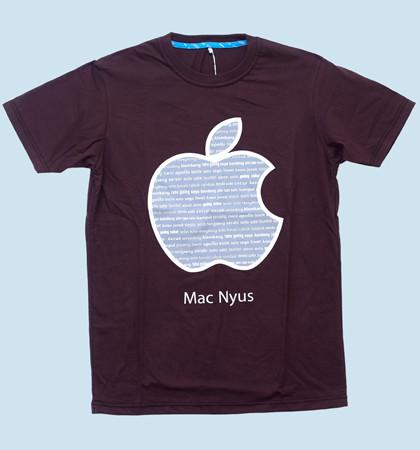 Kaos DIS-12-Mac Nyus Coklat Kopi