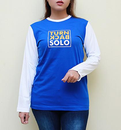 Kaos DIS-07-TurnBlackSolo Abu Sedang & Misty Muda Lengan Panjang