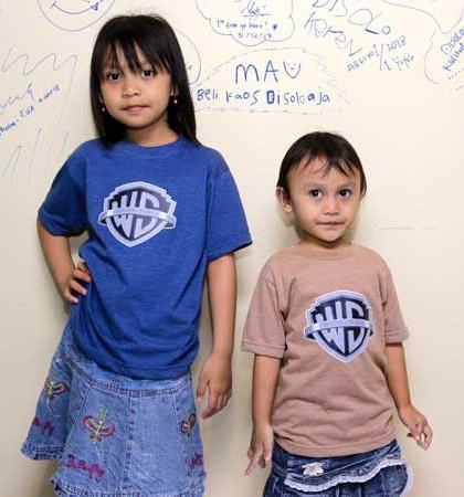 Kaos DIS-09-Wong Solo Anak TwoTone Biru